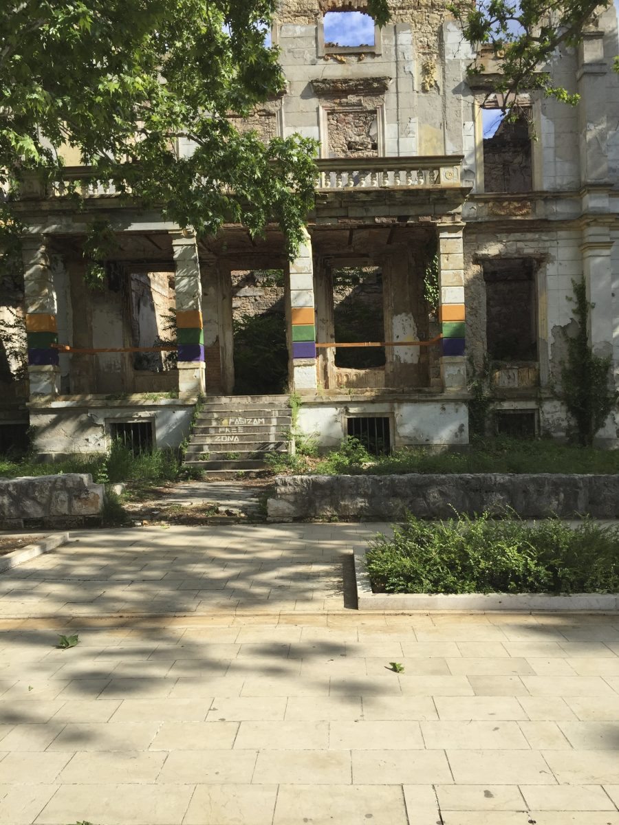 abandoned building in Mostar