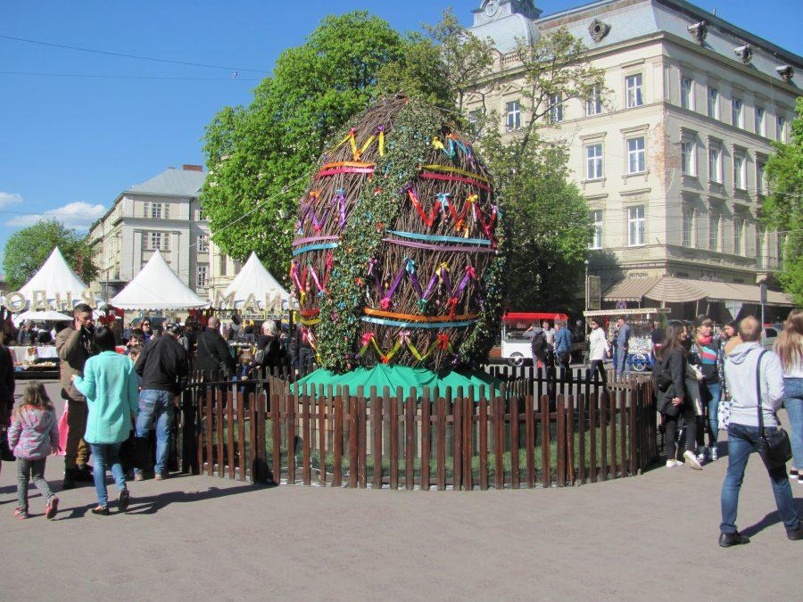Lviv easter market